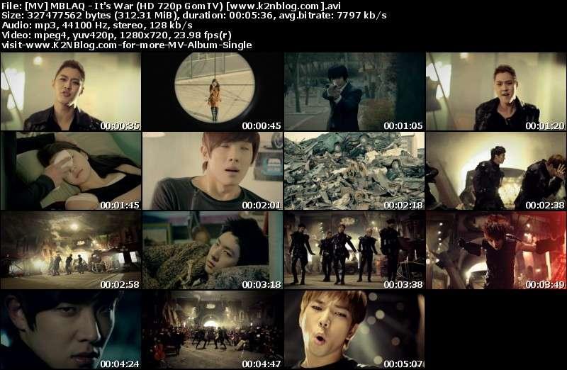 [MV] MBLAQ - It's War (HD 720p GomTV)